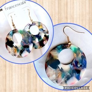 NWT Francesca's Marbled Drop Earrings
